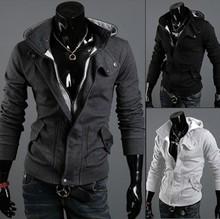 Mens Sexy Slim Fit Hooded Hoodies Jackets Coats Sweatshirt Sweater Fleece 3101(China (Mainland))