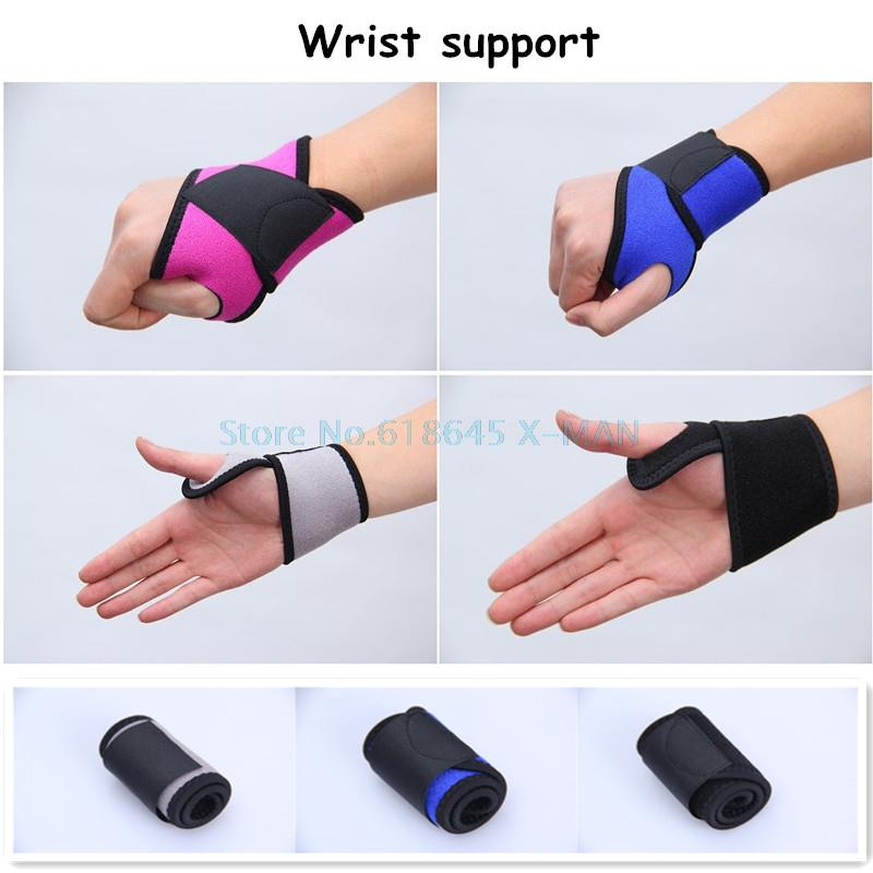 Colorful Adjustable Fitness Wrist Support Strap Sport Gym Wristband Tennis Elastic Stretchy Bandage Protector Wrist Support L246<br><br>Aliexpress