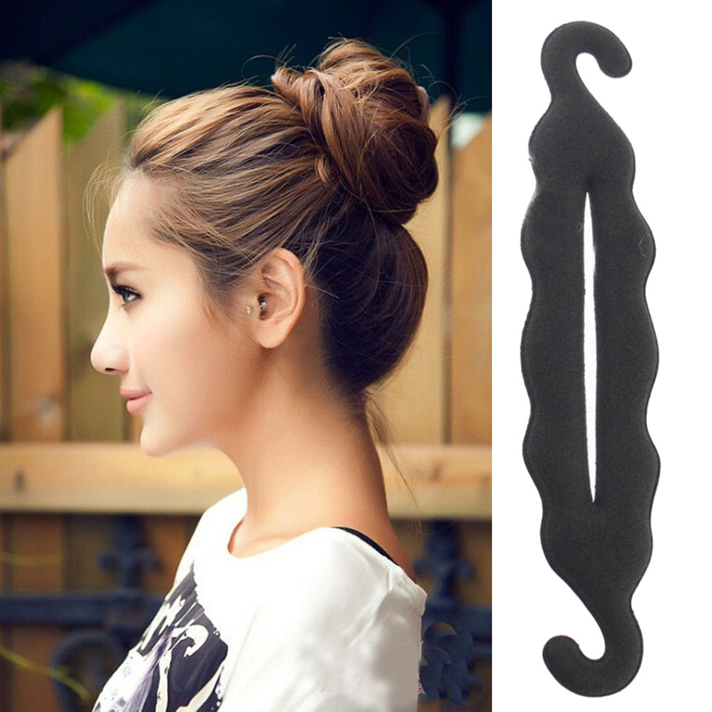 2PCS Styling Braid Women Magic Foam Sponge Hairdisk Hair Device Donut Quick Messy Bun Updo Hair Accessories Hairdressing Tools(China (Mainland))