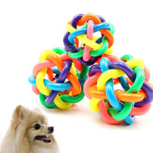 Colorful Ball Pet Toy Dog Cat Toy with Bell for Small Medium Large Dog Chihuahua Yorkshire Poodle Pet Product for Pet