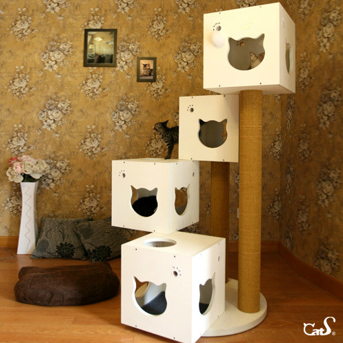 Как сделать домик для кошки из досок