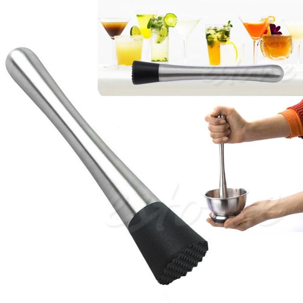 nouveau cocktail pilon en acier inoxydable mixer bar barware mojito cocktail verre bricolage. Black Bedroom Furniture Sets. Home Design Ideas