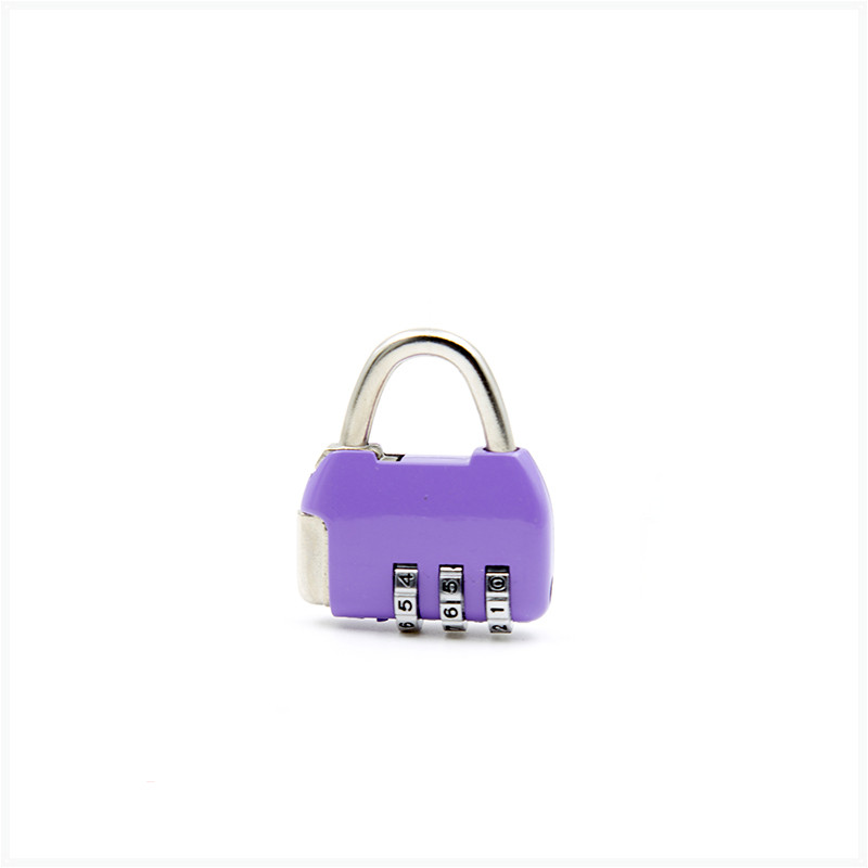 Mini luggage suitcase combination lock zinc alloy cabinet padlock blue gold silver pink purple black red