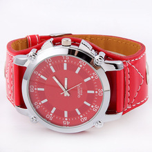 New Fashion Women's Wristwatch Casual Simplicity Genuine Leather Strap Stainless Steel Dial Quartz Wrist Watch