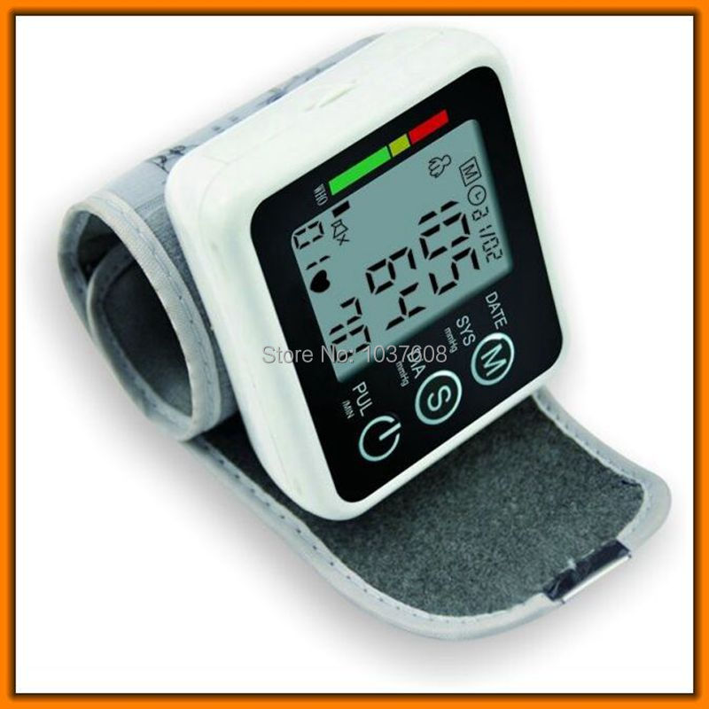 home Blood Pressure Meter Pulse Sphygmomanometer and digital wrist tonometer to test blood pressure free shipping(China (Mainland))