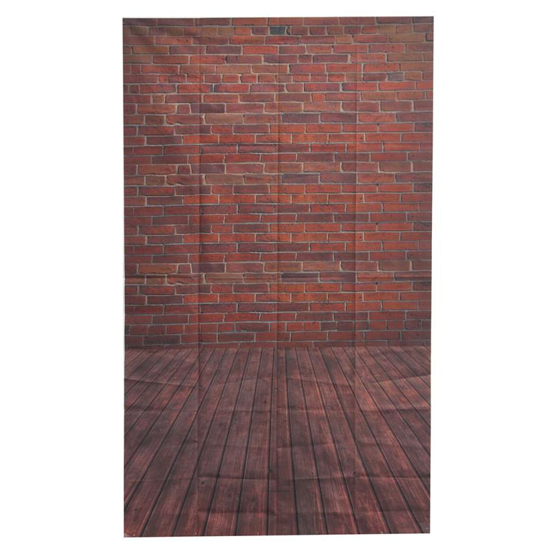 Best Price Brick 3x5ft Vinyl Photography Wooden Floor Backdrop Background Studio Photo Prop 90 x 150cm(China (Mainland))