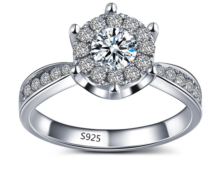 Гаджет  Wholesale nemest 925 sterling silver jewelry classic  romantic wedding love witness cubic zirconia fashion women ring ASR093 None Ювелирные изделия и часы