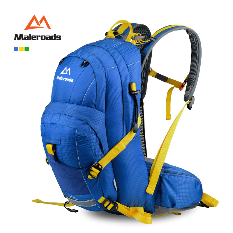 New! Maleroads 2015 Bicycle Backpack Bike rucksacks Packsack Road cycling bag hiking Knapsack Riding running Sport Backpack 25L(China (Mainland))