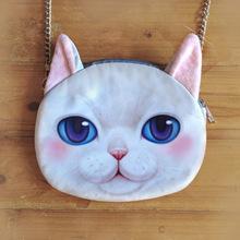 new hot sale woman bag 3D Animal Printing Bag chain cat shoulder bag bolsas feminina bolsos purses and handbags