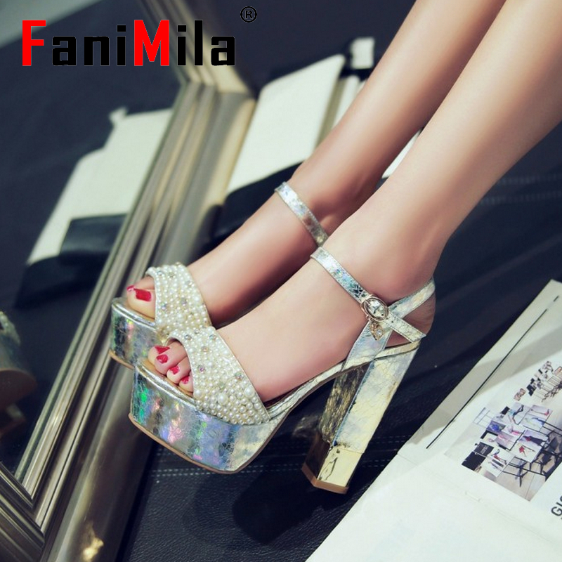 women stiletto ankle strap platform high heel sandals brand sexy wedding lady heeled footwear heels shoes size 34-39 P18118