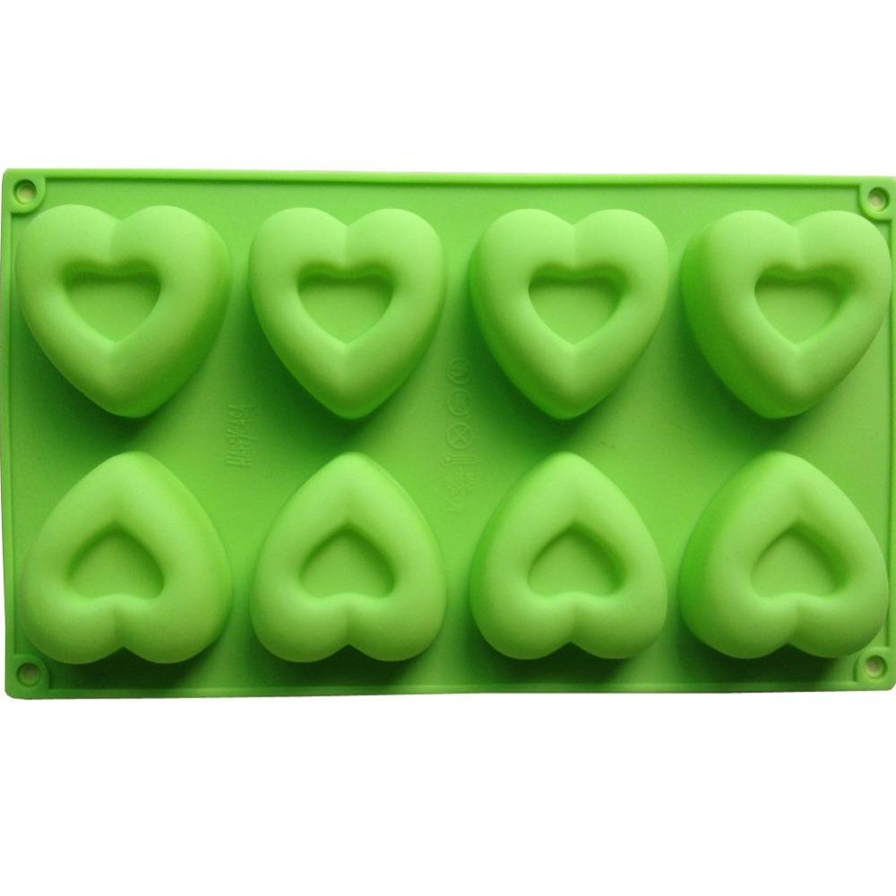 12PCS Heart Type Muffin Sweet Candy Jelly Fondant Cake Mold Silicone Tool Baking Pan B042(China (Mainland))