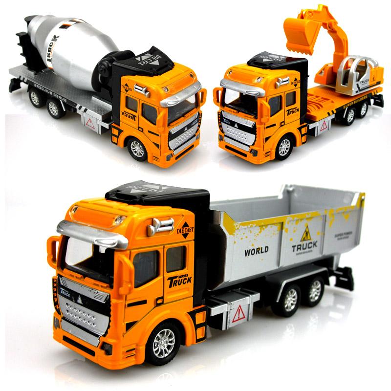 3pcs/set transport ruck+dump car+mixer truck kids toys for children educational diecast model toys car metal toys vehicles model(China (Mainland))