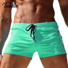 Taddlee Brand Men's Swimwear Swimsuits Swim Boxer Trunks Surf Board Shorts Sexy Men Swimming Boxers Bathing Suits Gay Summmer