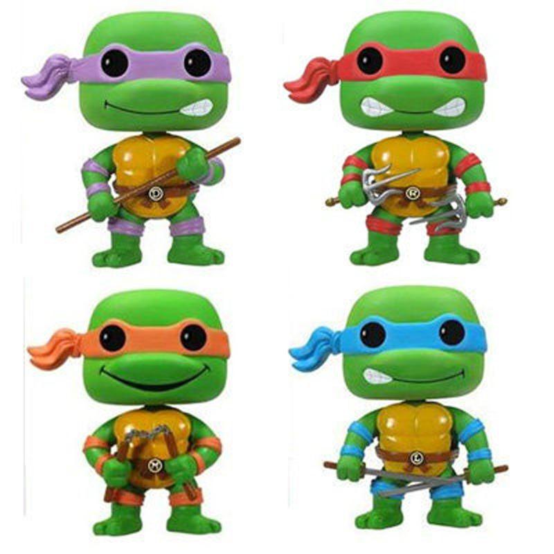 Anime FUNKO POP Teenage Mutant Ninja Turtles Donatello Raphael Action Figure Model Toy 10cm(China (Mainland))