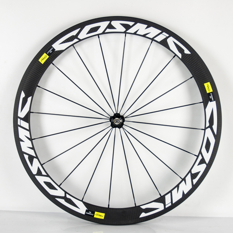 A pair road bike wheels carbon wheels 50mm clincher 20.5mm width carbon wheelset bicycle wheelWith Novatec 271(China (Mainland))