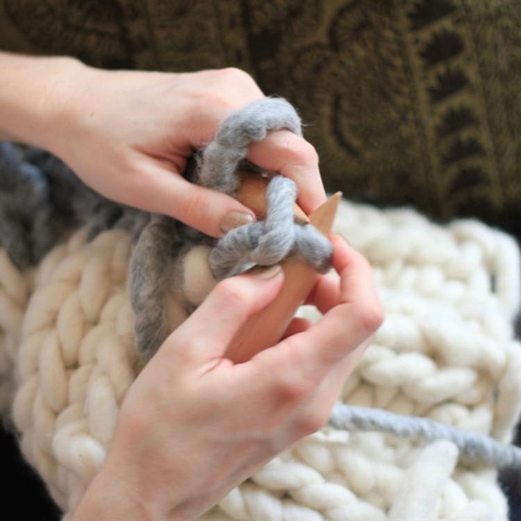 Как вязать из толстой шерсти