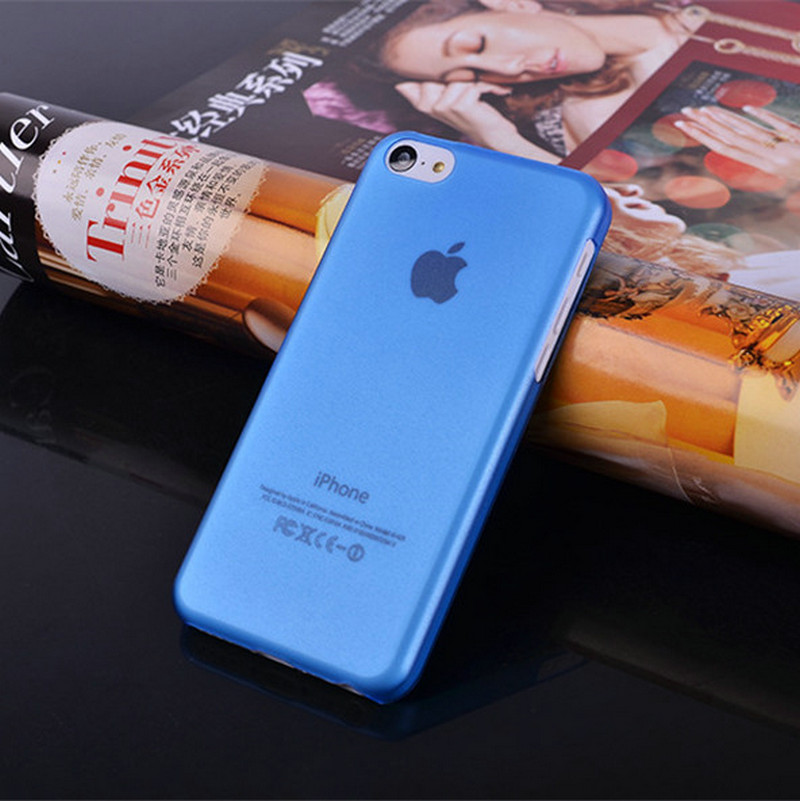 for iphone 5C new arrive for apple iphone 5C Phone Case 0.5 mm high quality case Translucent frosted Phone Case Hard shell(China (Mainland))