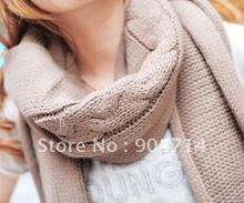 2011 pop collars couple/womens winter scarf/ladies widen knitted scarves.bandana.chemo,pashmina,shawl.wrap.vintage scarf/6color(China (Mainland))