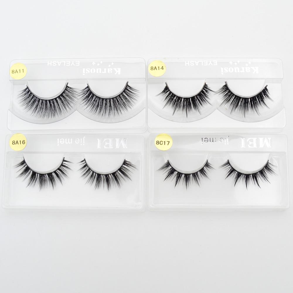 4 styles 100%Supernatural Lifelike handmade false eyelash 3D strip mink lashes thick fake faux eyelashes Makeup beauty(China (Mainland))