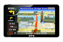 2016 hot 7 inch HD Car GPS Navigation FM DDR/800MHZ Map Free Russia/Belarus/Spain/ Europe/USA+Canada/Israel optional(China (Mainland))