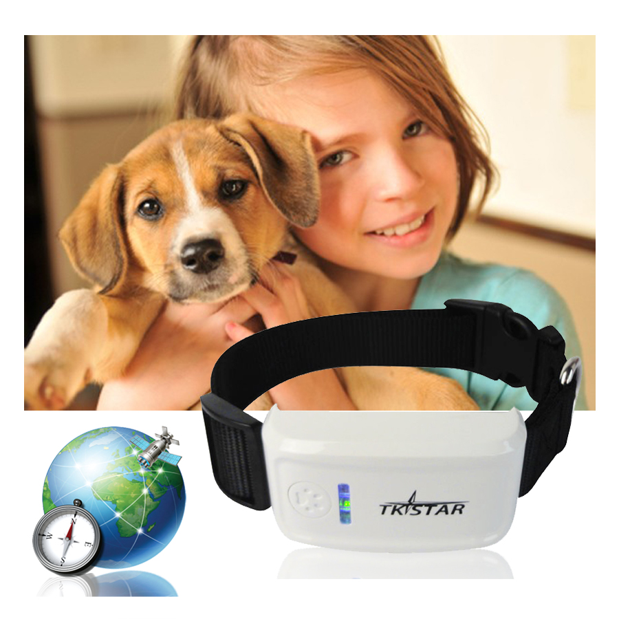 Mini GPS Tracker with Collar Waterproof Real Time Locator Rastreador Localizador Chip for Pets Dogs Perro Pigs Tracking Geofence(China (Mainland))