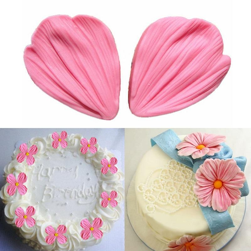 2Pcs 3D Daisy Flower Petals Cake Shaped Mold Silicone Fondant Sugargraft Baking Gum Paste Soap Chocolate Decoration DIY Tool(China (Mainland))