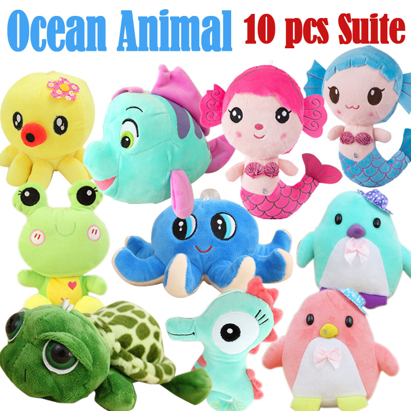 Sea-maiden/Cute Cartoon Fish18cm Plush Toys/Stuffed Doll/Healthy Eco-friendly Material/TN33<br><br>Aliexpress