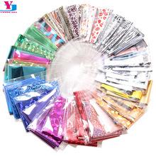 Wholesale 60pcs Mix Color Nail Art Foils Transfer Shiny Laser Negel Sticker DIY Glitter 3D Unghie Decoration Mirror Nails Makeup(China (Mainland))
