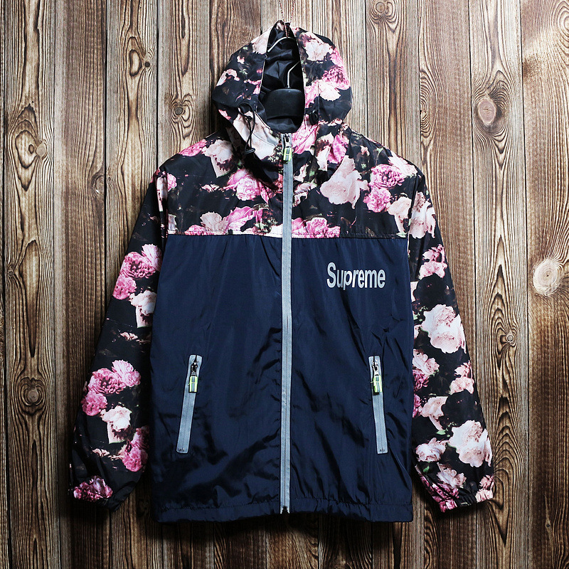 NEW Style! suprem jacket suprem e coat 3m reflective jacket 3m jacket suprem outerwear lovers plus velvet outdoor jacket(China (Mainland))