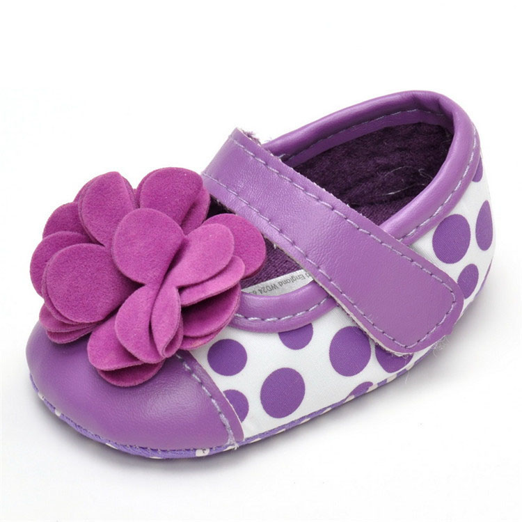2016 spring autumn fashion new female baby toddler shoes 0-1 years purple flowers fashion breathable baby shoes(China (Mainland))