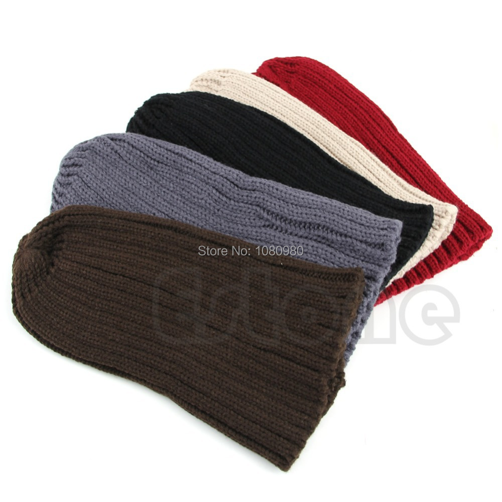 1PC Stylish Unisex Men Hip Hop Warm Winter Wool Knit Ski Beanie Skull Cap Hat