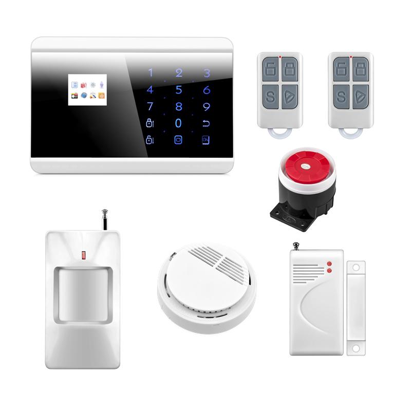 P731 Wireless Zone GSM PSTN Home Alarm System SMS Arm/Disarm Door Contct Fire Alarm Sensors Emergency Panci Alert 8218G<br><br>Aliexpress