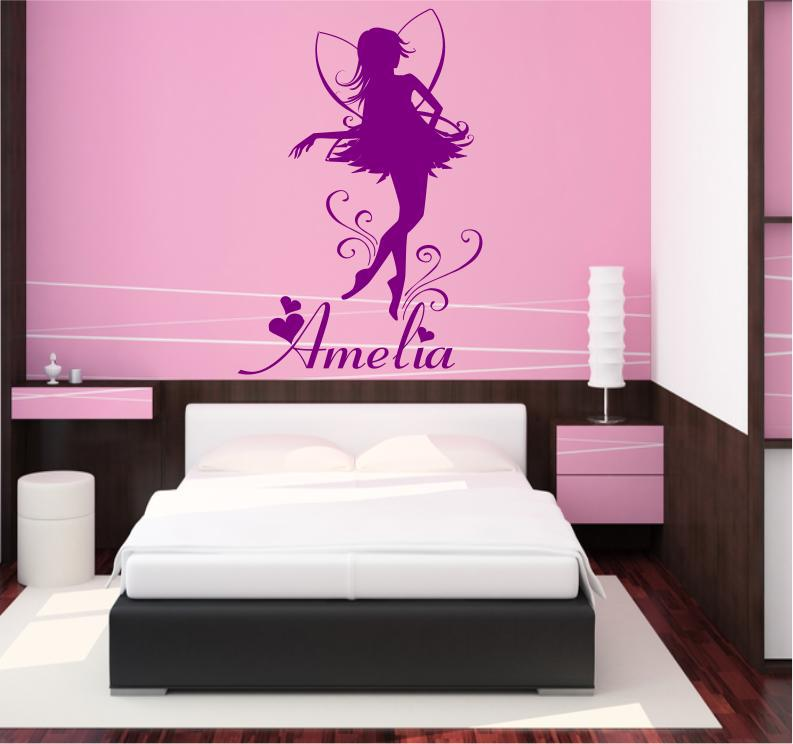custom made personalized name fairy wall decal vinyl wall sticker