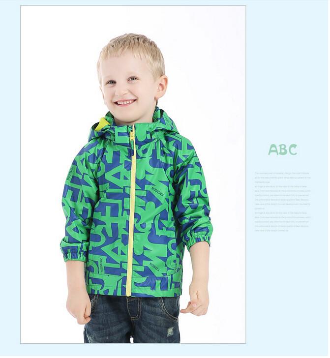 QRDJ1513556 Retail Autumn Boy Jacket Hooded Print Letters Boy Coat Zipper Boy Outerwear Children Clothes<br><br>Aliexpress