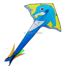 free shipping high quality dolphins kite with kite wheel weifang kite flying hot selling cheap toys for kids hcxkite factory(China (Mainland))
