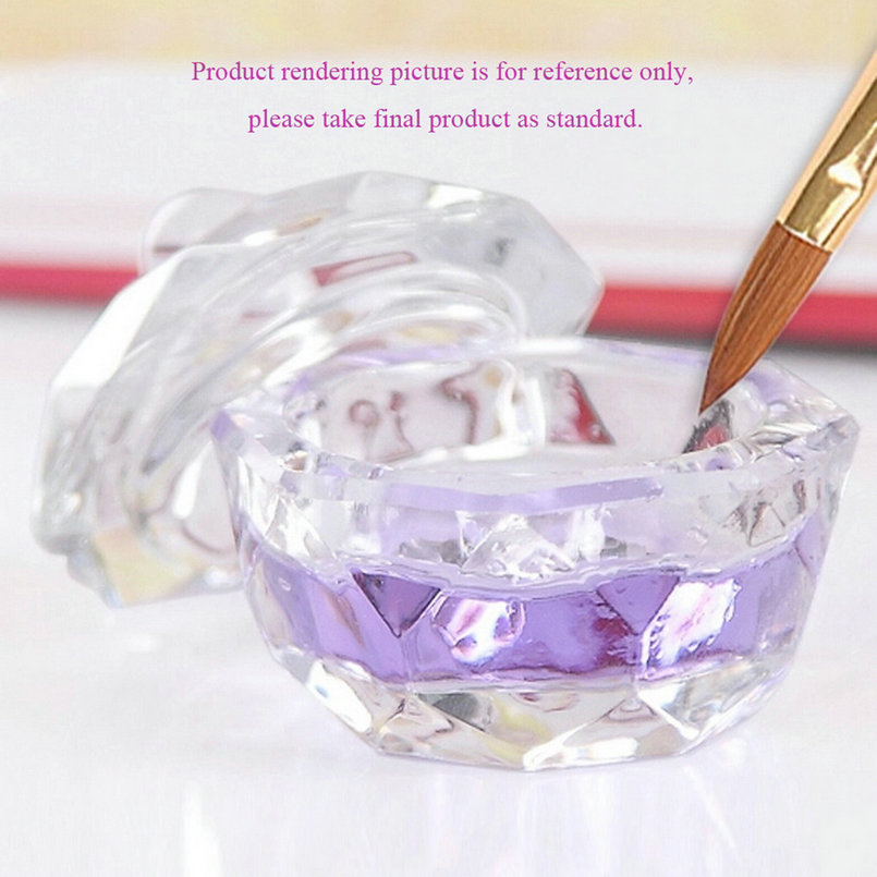 Nail Crystal Cup Glass Dappen Dish Cup Nail Art Acrylic Liquid Powderstyling Tool nail dust collector Clear(China (Mainland))
