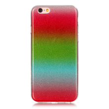 Phone Cases for Apple iphone 6 6s Plus Rainbow Gradient Color Soft Clear TPU protective housing for iphone6 6s Plus Back Cover