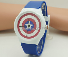 Captain America design watch Anime Jelly Wristwatches Woman digital quartz Watch Children watch Student watch relogios