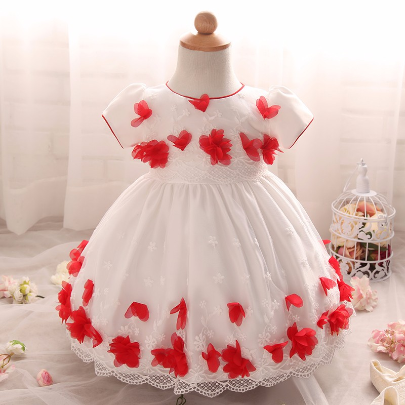 2018 Wholesale Baby Girl Dress Toddler Christening Gown Infant