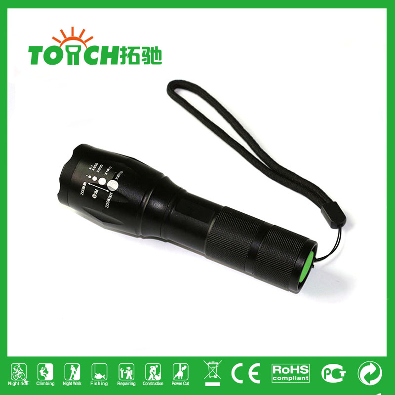 500m long range led flashlight super Bright CREE XML-T6 2000lumans tactical 5Modes Zoomable LED Torch Bike Light 18650 8060(China (Mainland))