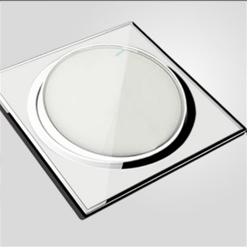 2016 Limited Wireless Switch High Standard Wall Light Button Screen Dimmer Switch Acrylic Glass Panel Home Electrical Fittings(China (Mainland))
