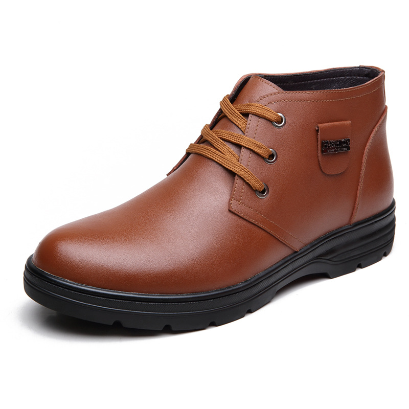 aliexpress buy winter snow mens boots leather