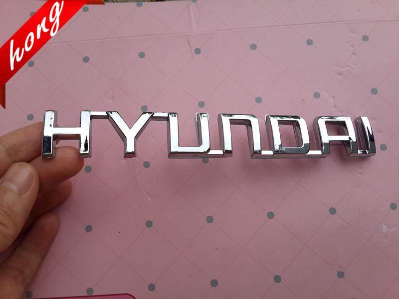 Hyundai Brief Logo 3D Auto Aufkleber Emblem Abzeichen Hinter Decals für Hyundai Freies Verschiffen Auto Aufkleber Auto Aufkleber(China (Mainland))