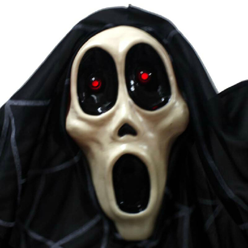 Halloween Horror ghost toys electric Haunted house props Voice bat big ghost Luminous voice(China (Mainland))