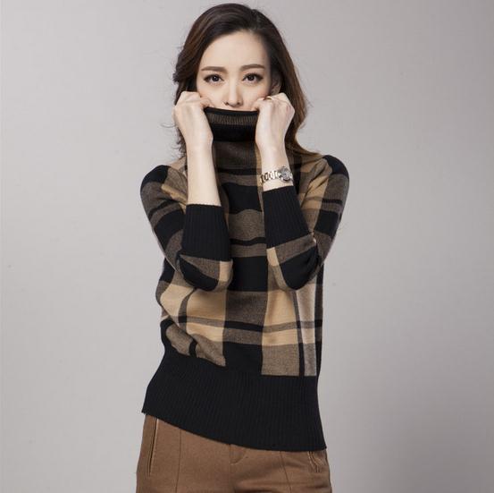 2015 шерсть кашемир женские свитера водолазка полный рукав пуловер женщины вязаный ...
