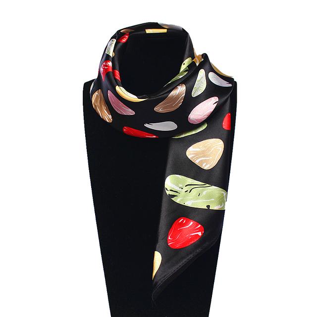60 см * 60 см Женщины 2016 Новая Мода Имитационные Шелковый Красивые Красочные Камень Печатных Евро Квадратный Шарф Горячие Продажа шарфы