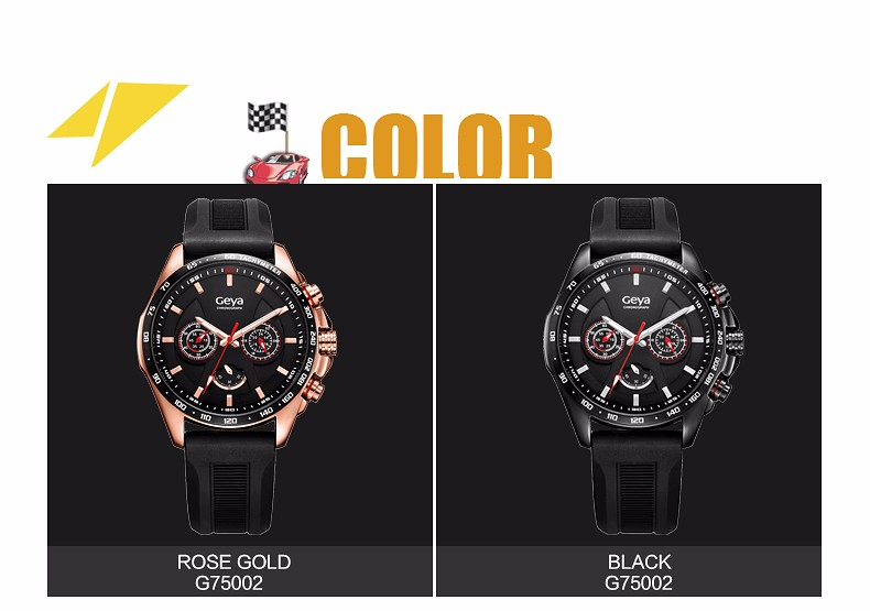 2016 Men Sports Watches 50M Waterproof Silicone Strap Racing Style Watch Military Multi-Function Wristwatches relogios masculino