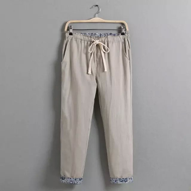 The domestic custom code of women's casual pants nine elastic slub cotton 100kg of charm summer curling pants(China (Mainland))