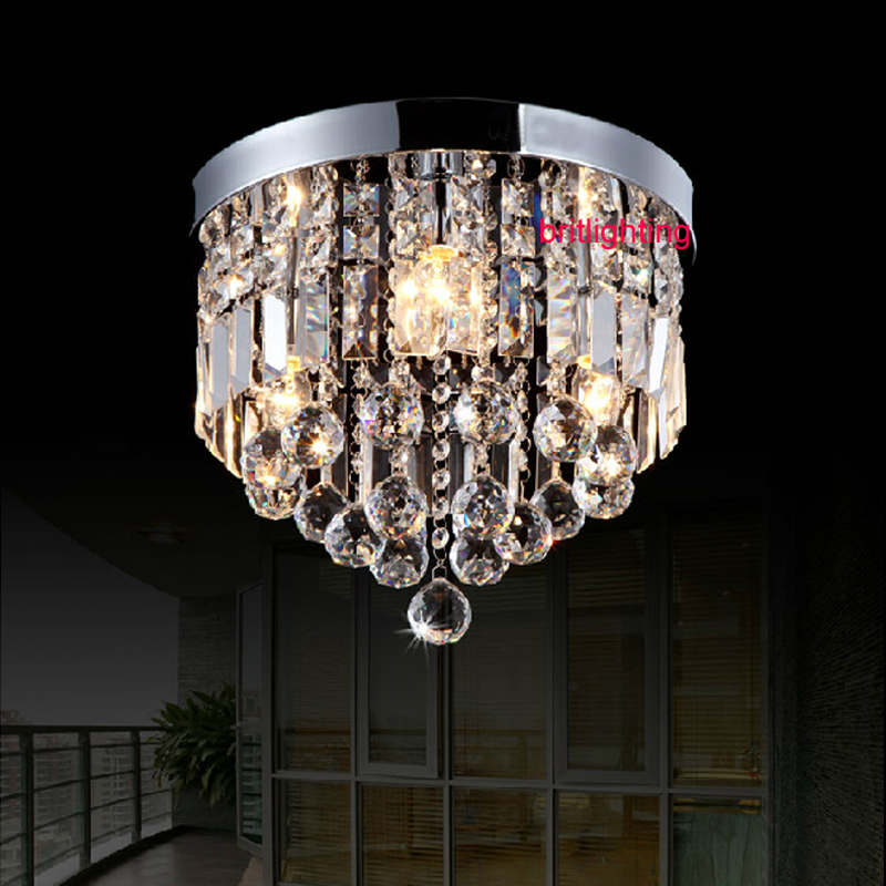 modern crystal ceiling lamp bedroom round surface mounted