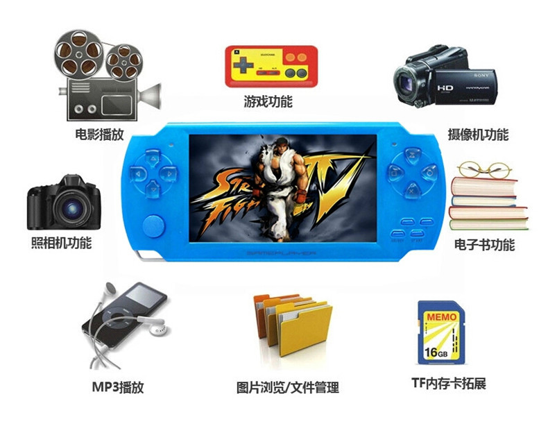 Factory Outlets Coolboy X6 intelligence console handheld game consoles and built 9999 in 1 games handheld console Free Shipping(China (Mainland))
